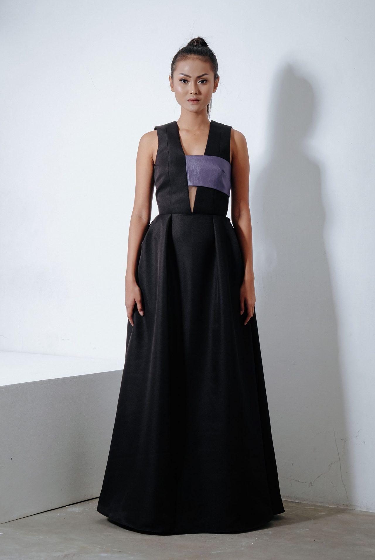 11101-Half-Bandeau-Maxi-Dress