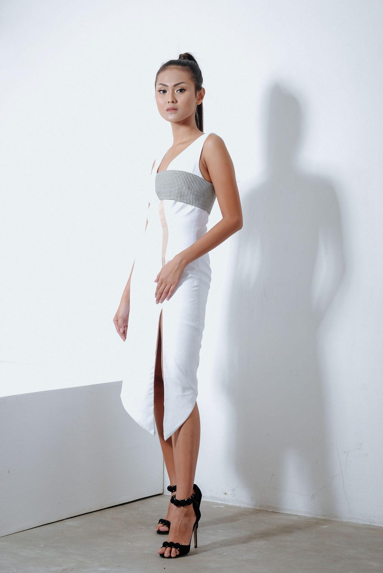11103–V-neck-Midi-Dress2