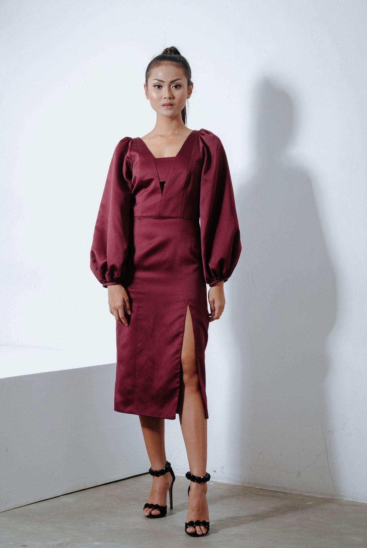 11114-Maroon-Bishop-Dress